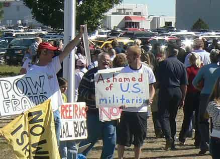 Protesting McCain and Palin