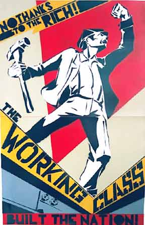 Class struggle poster