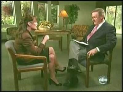 Sarah Palin Charles Gibson ABC interview
