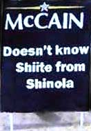 McCain doesnt know Shiite from shinola