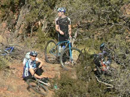 Garden of the Gods mountain bikers