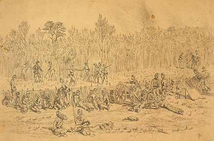 Union Soldiers fight on Brock Road 1864