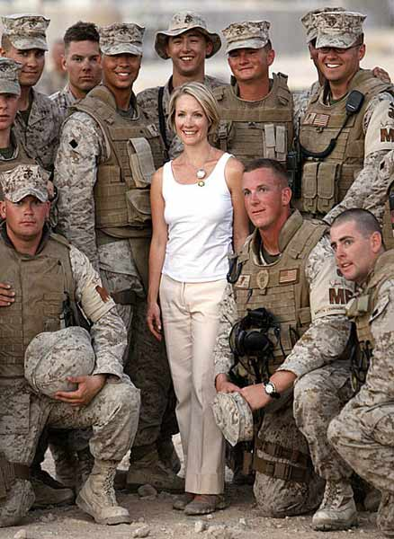 Playboy bunny visiting the troops
