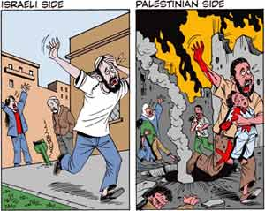 Israeli and Palestinian sides