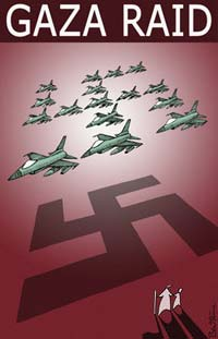 gaza-raid-nazi-swastika