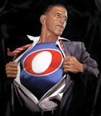 Barack Obama superhero