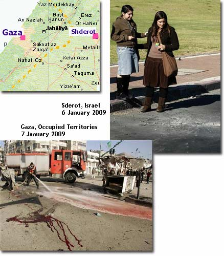 Sderot vs. Gaza damage compared