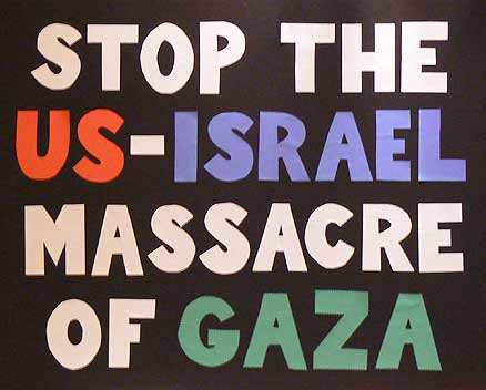 Stop the US-Israeli massacre of Gaza