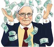 Buffett throwing dollars