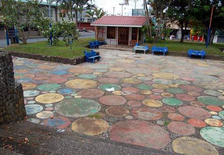 Sarchi town square Costa Rica