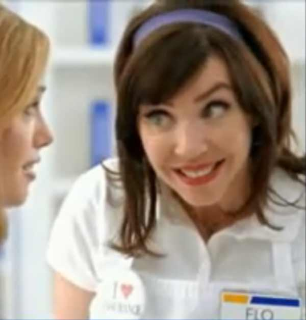 Flo the Progressive Insurance checkout cashier