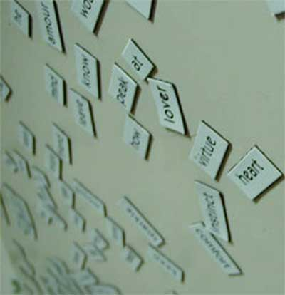 Refrigerator magnet poetry