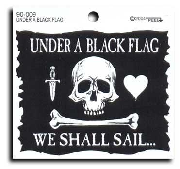 Under a black flag