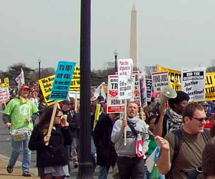 ANSWER March on the Pentagon, Mar 21, 2009