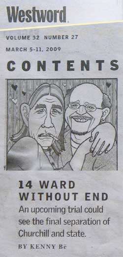Westword Print edition contents page