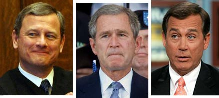 Simians Roberts, Bush and Boehner