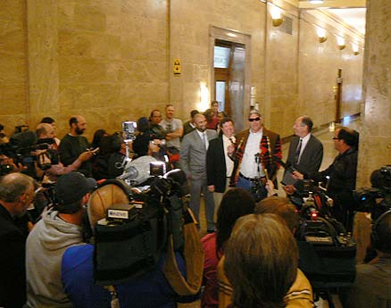 Press conference after verdict