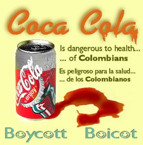 Coca Cola is dangerous to the health of Colombians