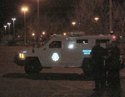 DPD armored emergency rescue unit at night