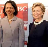 Hillary and Condoleezza