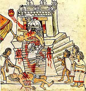 Inca God of War http://notmytribe.com/2009/high-priest-felipe-calderons-great-human-sacrifice-to-the-drug-war-god-obama-87437.html