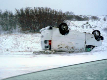 Interstate 25 rollover on Monument Pass