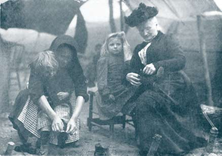 Mary Harris Jones and the children of miners 1914