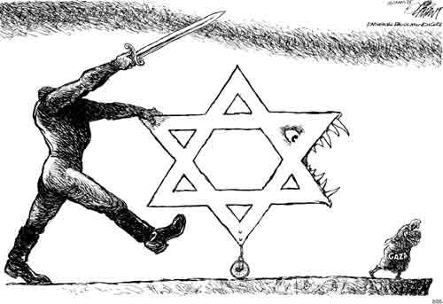 oliphant gaza israel cartoon