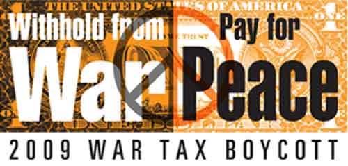 war tax boycott - pay for peace