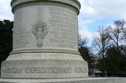 WWI monument to US Army Expeditionary Force