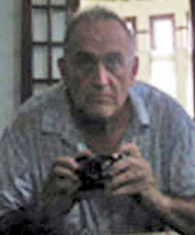 John William Yeattaw takes self-portrait before swimming Yangon Inya Lake to see dissident Aung San Suu Kyi