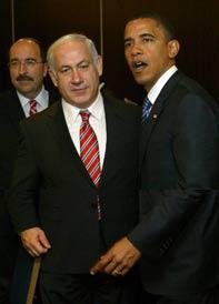 Netanyahu and Barack Obama
