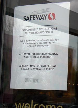 Posted at westside Safeway