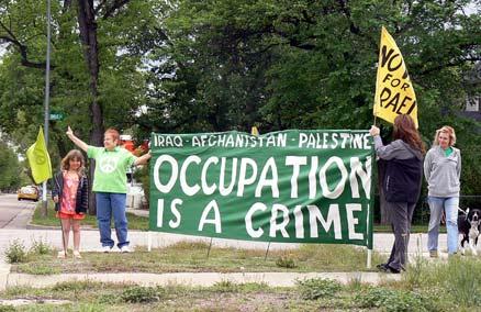 TOONS monday noon peace vigil