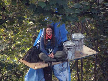 Laura Steepleton at Pettry Bottom Treesit