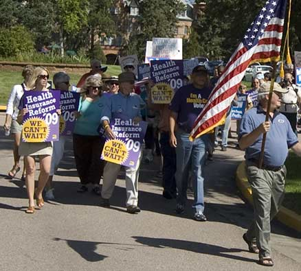 SEIU sponsored Healthcare Reform march at Union Printers Home Sept 2009