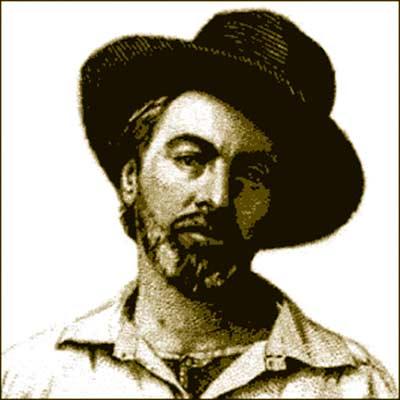 Poet Walt Whitman at age 37