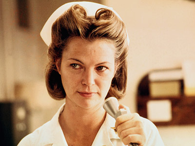 Nurse Ratchet torments Jack Nicholson and Brad Dourif
